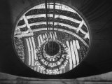 The Circular Tower in the Paris Opera Housing the Chandelier When It is Brought Up Photographic Print by Walter Sanders