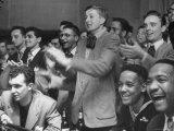 People Cheering Singer Ella Fitzgerald During Opening Night of Bop City Premium Photographic Print by Martha Holmes