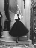 Short Wrap, Worn with Short Ball Gowns, Showing Off the Wearer's Waist Premium Photographic Print by Nina Leen