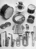 Musical Instruments Which Are Used in a Marching Band Photographic Print by Andreas Feininger