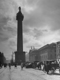 View of Nelson's Pillar in Dublin Premium Photographic Print by Hans Wild