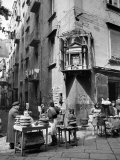 Market in Slums of Naples Premium fotoprint van Alfred Eisenstaedt