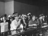 Women's Christian Temperance Union Members Invading Bar While Customers Remain Indifferent Premium Photographic Print by Peter Stackpole