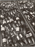Prop Champagne Bottles in the Prop Department of Warner Bros. Studio Premium Photographic Print by Margaret Bourke-White