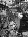Prior to Launching Oceanliner America, Newport News, Virginia Premium Photographic Print by Alfred Eisenstaedt