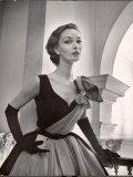 Woman Modeling a Short Ball Gown Premium Photographic Print by Nina Leen