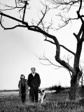 Painter Jackson Pollock Walking in Field with Wife Lee Krasner Premium Photographic Print by Martha Holmes