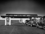 Some Customers Arriving by Car at Area Fly in Drive in Theater Premium Photographic Print by Martha Holmes