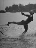 Woman Competing in the National Water Skiing Championship Tournament Premium Photographic Print by Mark Kauffman