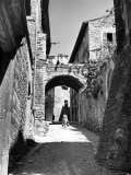 Street in Assisi Photographic Print by Alfred Eisenstaedt