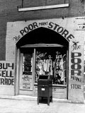 Window of the Poor Man&#39;s Store on Beale Street in Memphis Photographic Print by Alfred Eisenstaedt