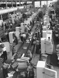 Refrigerators on Assembly Line at General Electric Plant Photographic Print by Alfred Eisenstaedt