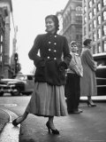 Pretty Girl Walking on 5th Avenue Premium Photographic Print by Martha Holmes