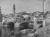 The Ponte Vecchio over the Arno River Premium Photographic Print by Alfred Eisenstaedt
