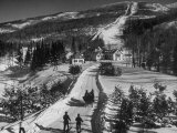 Ski Resort on Mont Tremblant in the Province of Quebec Fotoprint van Alfred Eisenstaedt