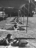 Women Practicing Their Aim at the Women&#39;s Legion on the Firing Range Premium Photographic Print by Jack Birns