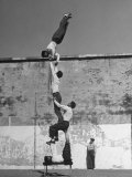 Prisoners Doing Gymnastics at San Quentin Prison Premium Photographic Print by Charles E. Steinheimer