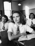 Teenage Girls in High School Classroom Photographic Print by Alfred Eisenstaedt