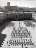 West Point Cadets Standing at Parade Rest in Courtyard of the West Point Military Academy Photographie par Alfred Eisenstaedt