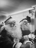 Santa Claus Convention and Training Course at the Waldorf Astoria Premium Photographic Print by Martha Holmes