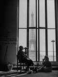 Parisian Cleaning Women Eating Lunch by a Window Premium Photographic Print by Yale Joel