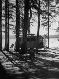 Trailer Park in Yellowstone National Park Fotoprint van Alfred Eisenstaedt