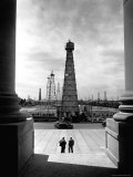 Oil Wells Outside State Capitol Premium Photographic Print by Alfred Eisenstaedt