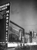 The Harolds Gambling Casino Lighting Up Like a Candle Premium Photographic Print by J. R. Eyerman