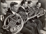 View of the French Horn Section of the New York Philharmonic Photographic Print by Margaret Bourke-White