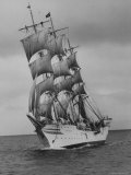 "Norwegian Naval Training Ship ""Sorlandet"" on Shakedown Cruise Photographic Print by Leonard Mccombe"