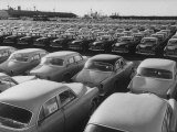 Shipment of Swedish Volvo Cars to USA Photographic Print by Stan Wayman