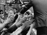 Senator Robert F. Kennedy Campaigning in Indiana During Presidential Primary Premium Photographic Print by Bill Eppridge