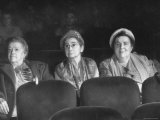 Three Elderly Ladies Watching &quot;Carmen&quot; in New York Theater Premium Photographic Print by Yale Joel