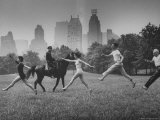 People Dancing in Central Park Premium Photographic Print by Leonard Mccombe