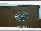 Railroad Box Car Showing the Logo of the New York Central Railroad Premium Photographic Print by Walker Evans