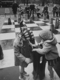 Outdoor Chess Set in Stuttgart Premium Photographic Print by Stan Wayman