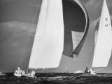 Sailboats Weatherly and Australian Contender Gretel in America's Cup Races Premium Photographic Print by George Silk