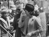 Mrs. John F. Kennedy During Her Tour of Pakistan Premium Photographic Print by Art Rickerby