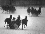 Troika Race at Hippodrome Premium Photographic Print by Stan Wayman