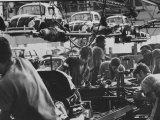 View of an Assembly Lin at the Volkswagen Plant in Sao Paulo Premium Photographic Print by Paul Schutzer