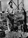 Man Working in the Shipbuilding Industry Premium Photographic Print by George Strock