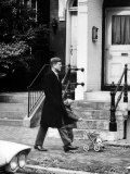 President Elect, John F. Kennedy, Taking a Walk with Daughter Caroline and Her Doll Carriage Premium Photographic Print by Bob Gomel