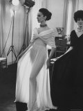 Molyneux's See Thru Jersey Evening Dress Premium Photographic Print by Paul Schutzer