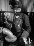 Welder Working in the Shipbuilding Industry Photographic Print by George Strock