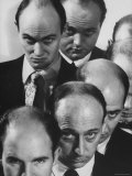 The Bald Heads of Relatively Young Men Premium Photographic Print by Grey Villet