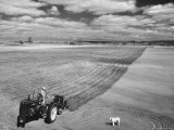 Spring Plowing on Farm in de Soto, Kansas Premium Photographic Print by Francis Miller