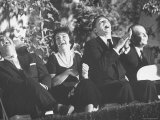 Ronald Reagan and His Wife with Actor Don DeFore at an Anti Communist Rally Premium Photographic Print by Ralph Crane