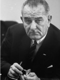 President Lyndon B. Johnson Premium Photographic Print by Stan Wayman