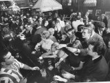 Young People Fill a Manhattan Singles Bar Premium Photographic Print by Ralph Morse