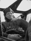 President Dwight D. Eisenhower Sitting in an Airplane During His Korean Inspection Trip Premium Photographic Print by Horace Bristol